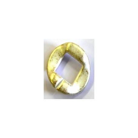 kunststof ring 40mm goud/wit per stuk
