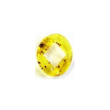 kunststof ring 40mm amber gevlekt per stuk