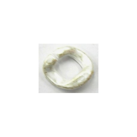 kunststof ring 20mm goudwit 4 stuks