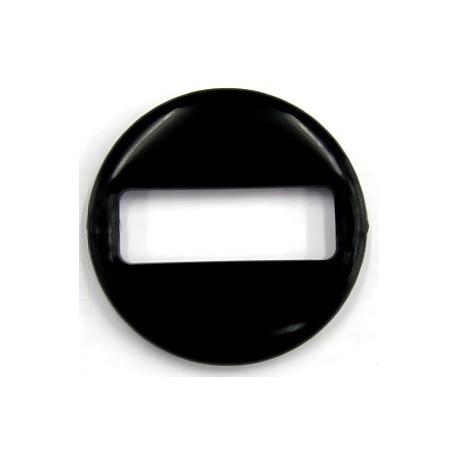 Ronde schakel 48x7mm zwart per stuk