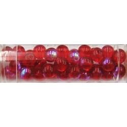 Gutermann regenboogparels 6mm rood ca 40st.