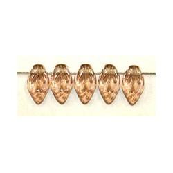 Glashanger bladvorm 6x10mm tr. lichtbruin 50st