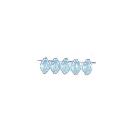 Glashanger bladvorm 8x12mm tr. lichtblauw 25st