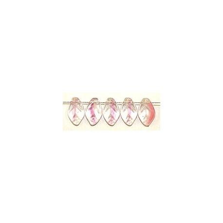 Glashanger bladvorm 8x12mm tr.rose gevlekt 25st