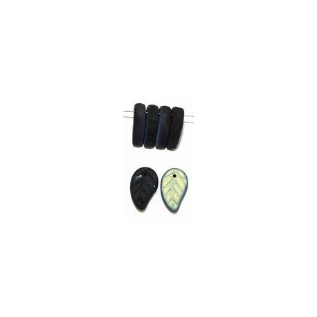 Glashanger blad 8,5x14mm mat zwart / AB 25st