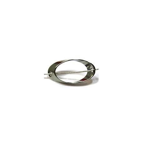 Metalen open ring m.rijggat 16x9mm 5 stuks