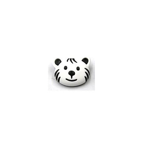 knoop beer zwart/wit per stuk