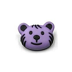 knoop beer zwart/lila per stuk