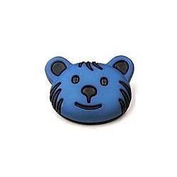 knoop beer zwart/blauw per stuk