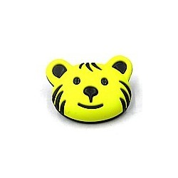 knoop beer zwart/geel per stuk