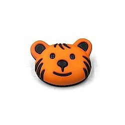 knoop beer zwart/oranje per stuk