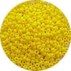 Rocailles 10/0 opaque geel 25gr.