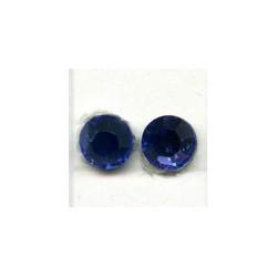 Swarovski plakkristal 4mm saffierblauw p,st.