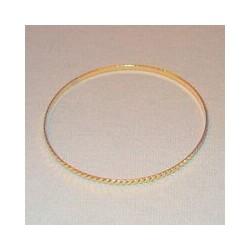 Metalen ring 18cm goudkleurig