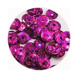 Pailleten cup 6mm fuchsia disco 10 gram
