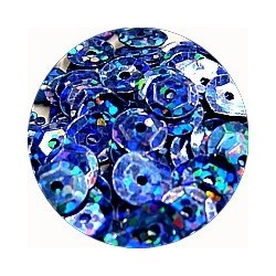 Pailleten cup 6mm blauw disco 10 gram