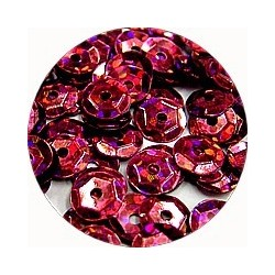 Pailleten cup 6mm cerise disco 10 gram