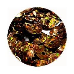 Pailleten cup 6mm bruin disco 10 gram