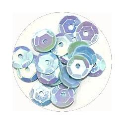 Pailleten cup 6mm babyblauw 10 gram
