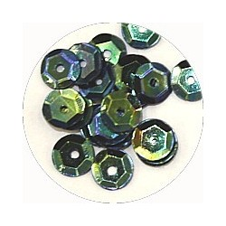 Pailleten cup 6mm blauw groen AB 10 gram