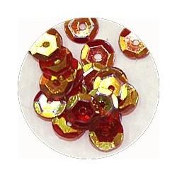 Pailleten cup 6mm rood goud AB 10 gram