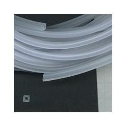 Rijgsnoer kunststof 4mm transparant mat meter