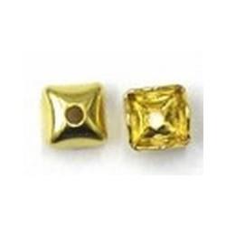 Rijgsnoerkapje 5mm goudkleurig 10 st