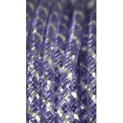 Nylon tube 4mm lila/zilver p.m.