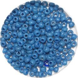 Rocailles 8/0 opaque blauw 25 gram