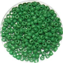 Rocailles 8/0 opaque groen 25 gram