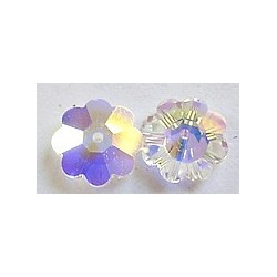 Swarovski bloemkraal 10mm transparant p.st.