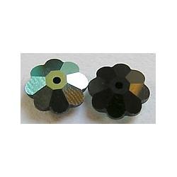 Swarovski bloemkraal 10mm zwart p.st.
