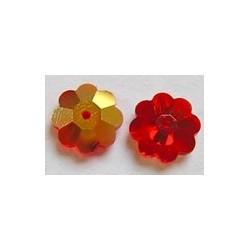 Swarovski bloemkraal 10mm siam rood 5 st