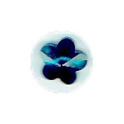 Swarovski hanger bloemvorm 12mm d.blauw p.st