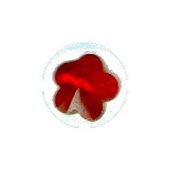 Swarovski hanger bloemvorm 12mm rood p.st