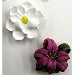 Knoop bloemen 25mm per set