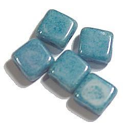 Silky beads 6mm opaque blauwgrijs 25st.