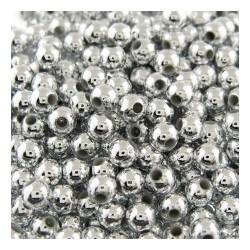 Metallook parel 3mm zilverkl. 100 stuks