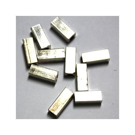 metalen kraal 12x5mm zilverkl. 10st