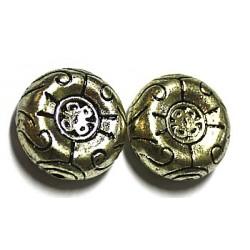 metallookkraal 23x10mm goudkl. 2 stuks