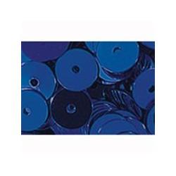 pailleten rond 6mm blauw 9 gram