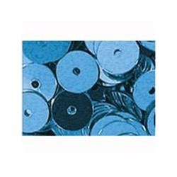 pailleten rond 6mm lichtblauw 9gram