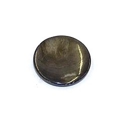 Schelpkraal 25mm rond grijs p.st