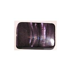 Schelpkraal 35mm rechthoek paars p.st