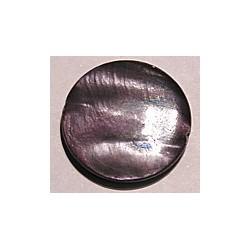 Schelpkraal 25mm rond paars p.st