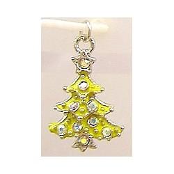 Swarovski bedel kerstboom geel