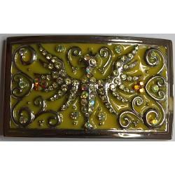 Swarovski riemgesp 5,5x9,5cm adelaar citrien/transp.AB voor 4cm riem