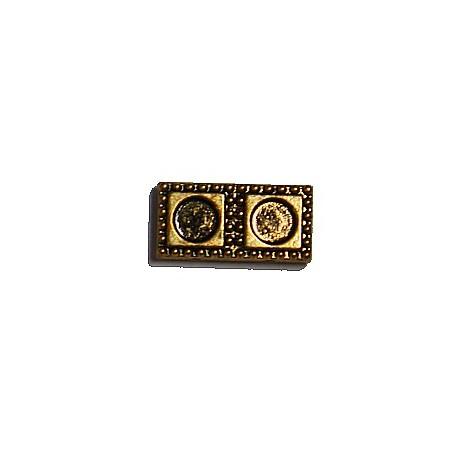 Spacer 2-rij 9x18mm voor 4mm plakstenen goudkl.