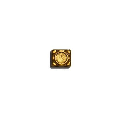 Spacer 2-rij 6x7mm voor 4mm plaksteen 5st. goudkl.