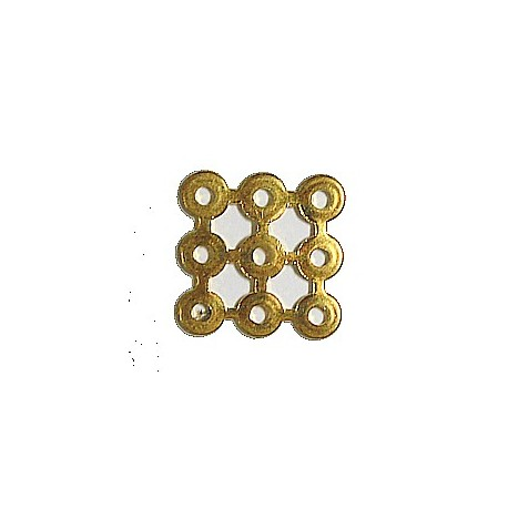 Tussenstuk 15x15mm goudkl. 5 stuks